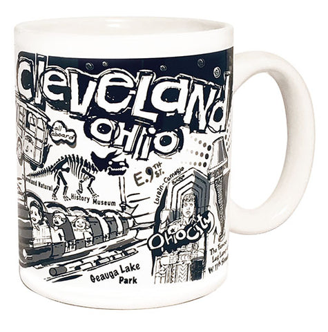 "Cleveland ""Nostalgia"" in Black & White"" Coffee Mug"