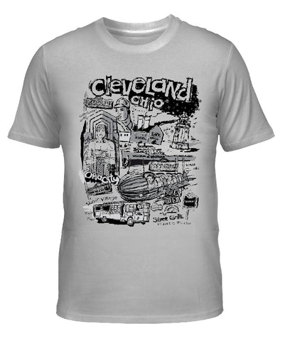 "Cleveland ""Nostalgia"" in Black & Grey T-shirt"