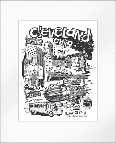 "Cleveland ""Nostalgia"" in Black & White Print"