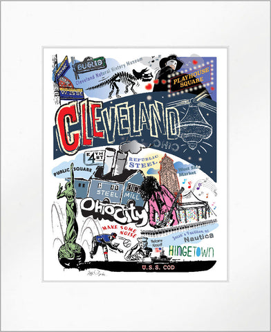 "Cleveland ""CLE"" Print"