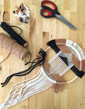Load image into Gallery viewer, Beatriz Fraia Workshop Geo Macrame Wall Hanging