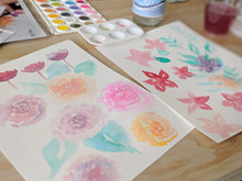 Load image into Gallery viewer, Jessica Pidcock Workshop Watercolor Florals