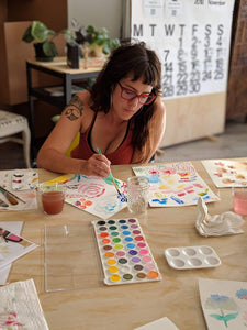 Jessica Pidcock Workshop Watercolor Florals
