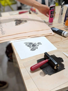 Joan Bogart Workshop Block Printing