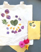 Load image into Gallery viewer, Kaitlin Bonifacio Workshop Hammered Flower Tote