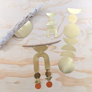 Kendra Dosenbach Workshop Brass Wall Hangings