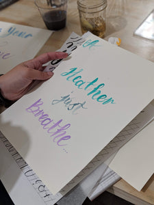 Kendra Dosenbach Workshop Modern Brush Lettering