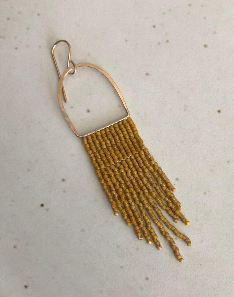 Nancy Dagdag Workshop Brass Beaded Earrings