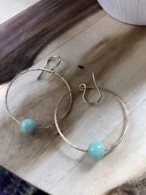 Load image into Gallery viewer, Rhiannon Saunders Workshop Hammered Brass and Crystal Earrings