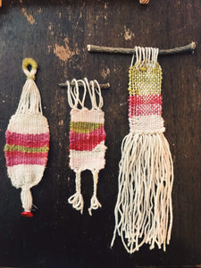 Stephanie Michelet Workshop Mini Weavings