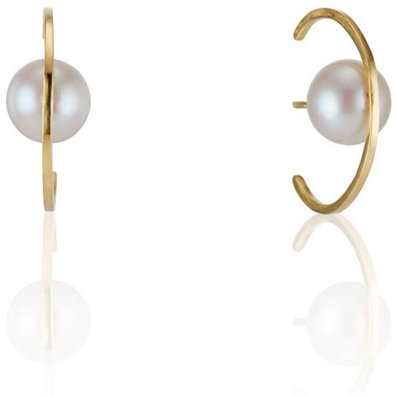 Best Colored Earrings Fine Jewelry Hand Crafted Couture bespoke custom Drop Earrings cuff earring pearl New York times New York Moda operandi earmuff earmuffs pearl pearls