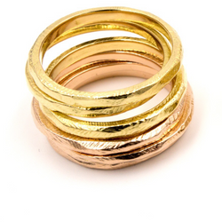Best Fine Jewelry Stack Rings Yellow Gold White Gold Rose Gold