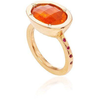 20k Rose Gold Mexican Fire Opal Ring