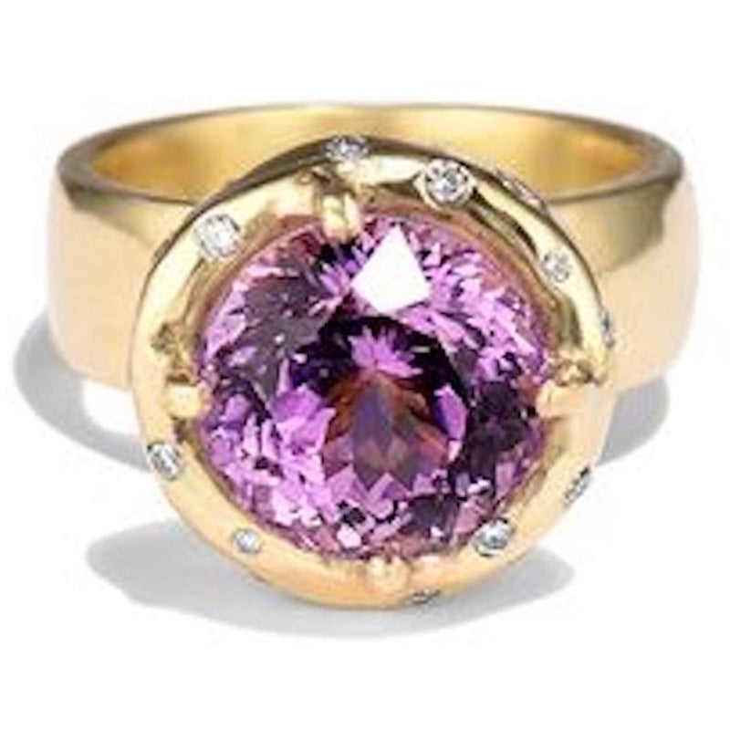 18k Gold rock candy Ring