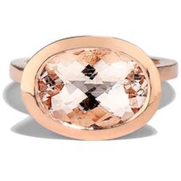 20k Rose Gold Morganite Ring