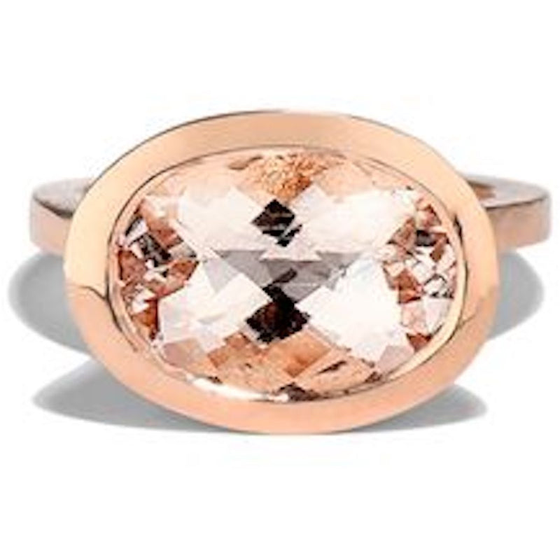 Best Fine Jewelry Colored Ring 20k rose gold morganite