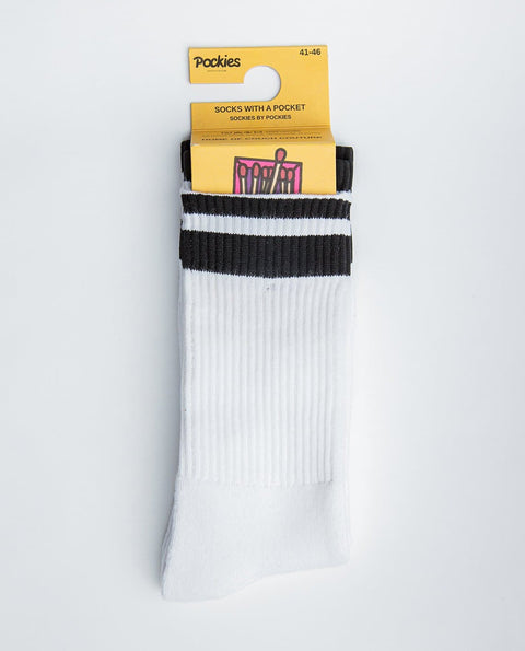 White Socks - Pocket Socks - Pockies