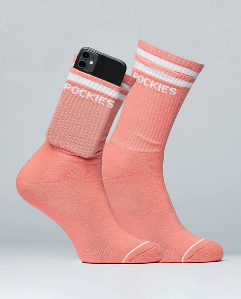 Coral Socks - Pocket Socks - Pockies