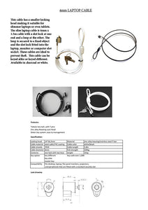 Dual headed slim laptop cable information