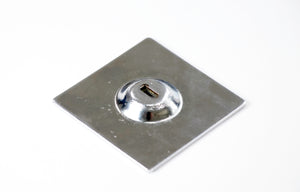 Flat square security plate limpet