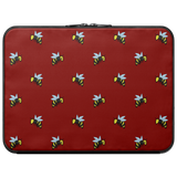 Bees Laptop Case (Maroon)