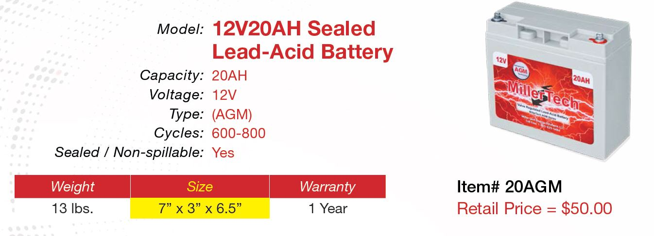 12V 20AH AGM Battery