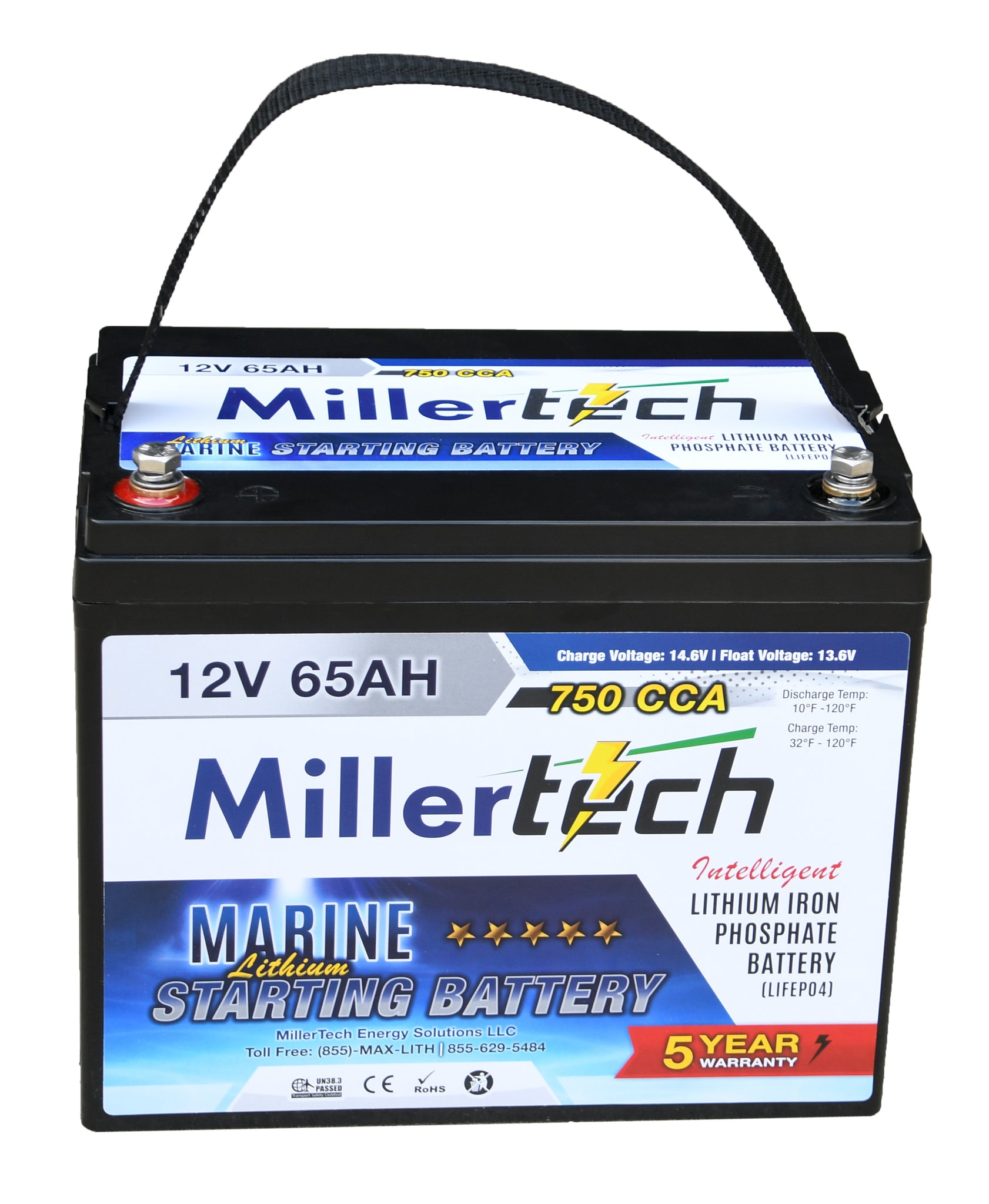 Starting Battery 12 Volt 65 Amp Hour - 750 CCA