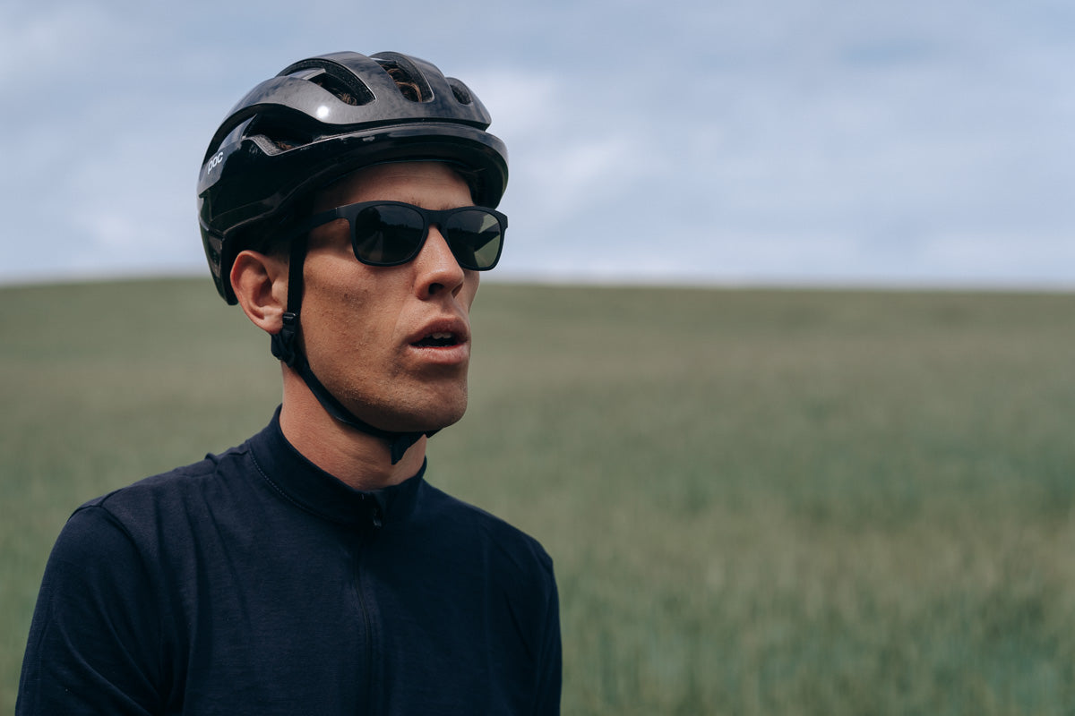 Long sleeved merino wool cycling jersey