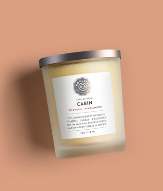 Cabin Patchouli + Sandalwood Soy Candle 9oz