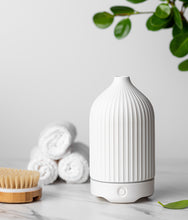 Load image into Gallery viewer, Straight Lines White Ceramic Diffuser