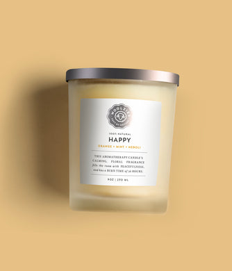 Happy Orange + Neroli Soy Candle 9oz