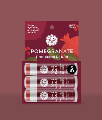 Pomegranate Tinted Lip Balm Set of 3