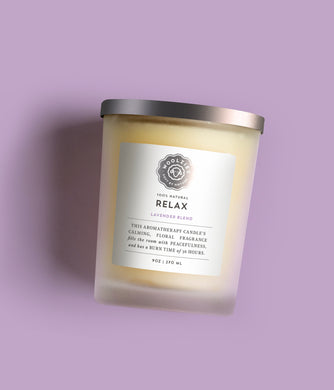 Relax Lavender Soy Candle 9oz