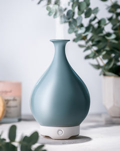 Green Glass Vase Diffuser
