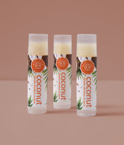 Coconut Lip Balm Set of 3