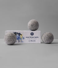 Load image into Gallery viewer, Gray Wool Dryer Balls Set of 3