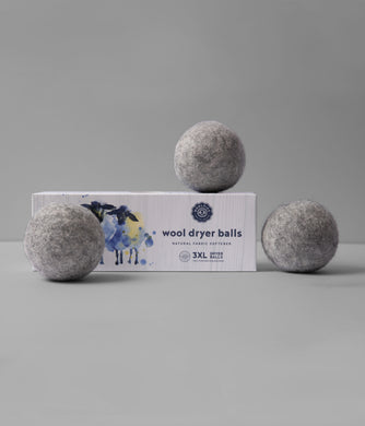 Gray Wool Dryer Balls Set of 3
