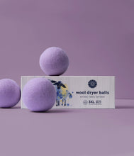 Load image into Gallery viewer, Lavender Wool Dryer Balls Set of 3