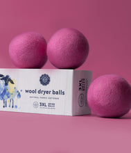 Load image into Gallery viewer, Pink Wool Dryer Balls Set of 3