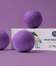 Load image into Gallery viewer, Purple Wool Dryer Balls Set of 3
