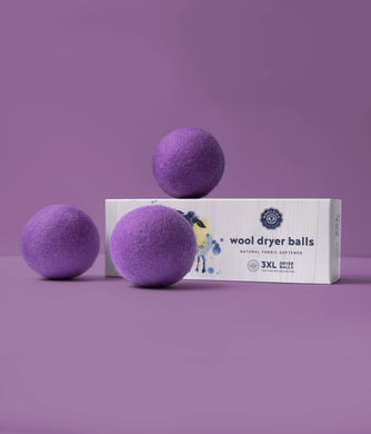 Purple Wool Dryer Balls Set of 3