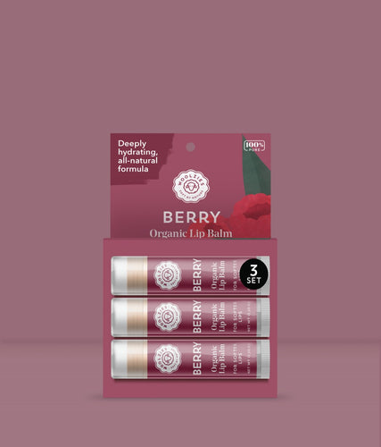 Berry Lip Balm Set of 3