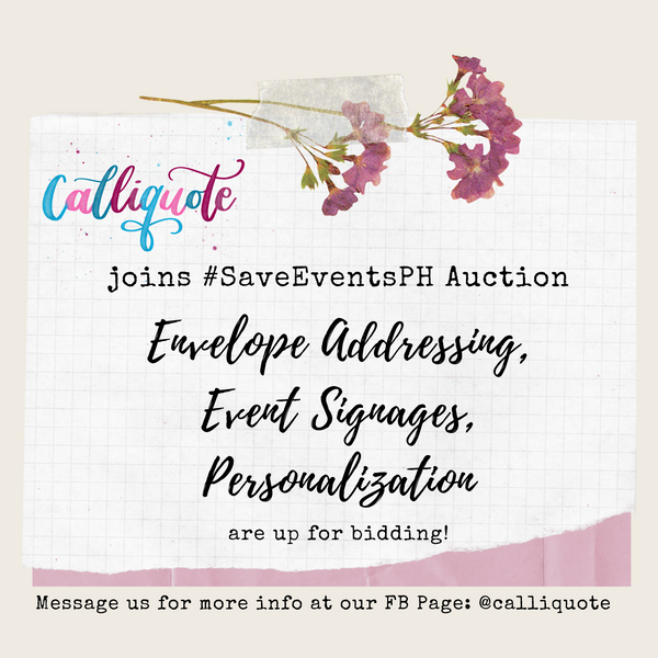 CalliQuote joins SaveEventsPH Suppliers Auction