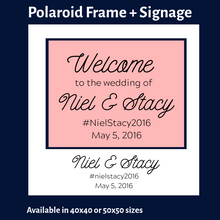 Load image into Gallery viewer, Polaroid Photobooth Frame + Signage