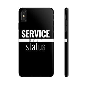 Service Over Status - Tough Case (Black) - Overwear Gear