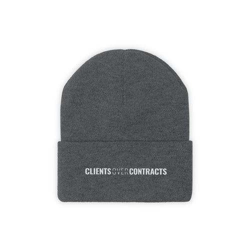 Clients Over Contracts - Classic Beanie - Overwear Gear