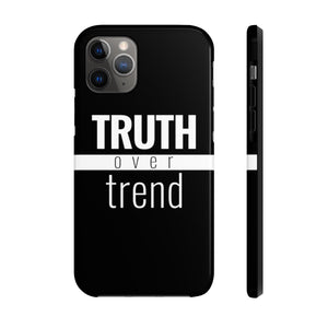 Truth Over Trend - Tough Case (Black) - Overwear Gear