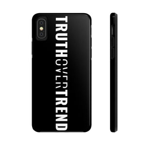 Truth Over Trend - Tough Phone Case (Black) - Overwear Gear