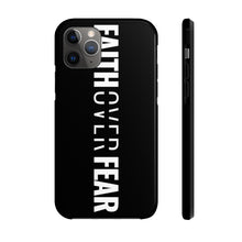 Load image into Gallery viewer, Faith Over Fear - Tough Phone Case (Black) - Overwear Gear