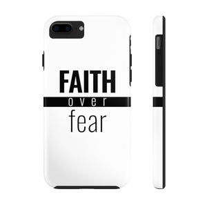 Faith Over Fear - Tough Phone Case (White) - Overwear Gear